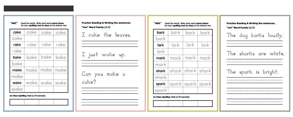 spelling & sentences